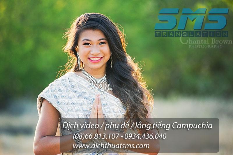 Dịch video tiếng Campuchia, lồng tiếng và phụ đề chuyên nghiệp bởi Dịch Thuật SMS