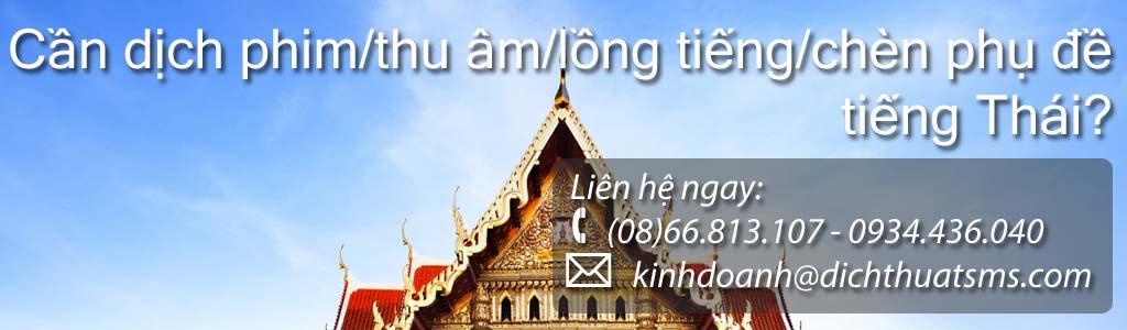 Dịch phim tiếng Thái – lồng tiếng và chèn phụ đề tiếng Thái - Công ty Dịch Thuật SMS