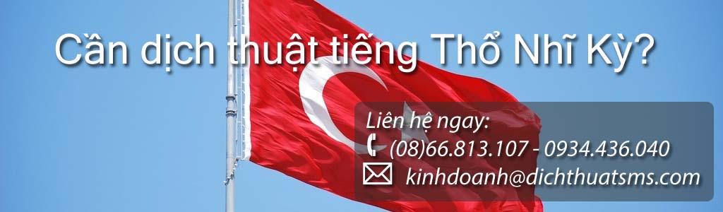 Dịch tài liệu tiếng Thổ Nhĩ Kỳ - Công ty Dịch Thuật SMS